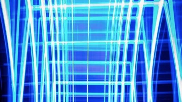 image of blue uv lights
