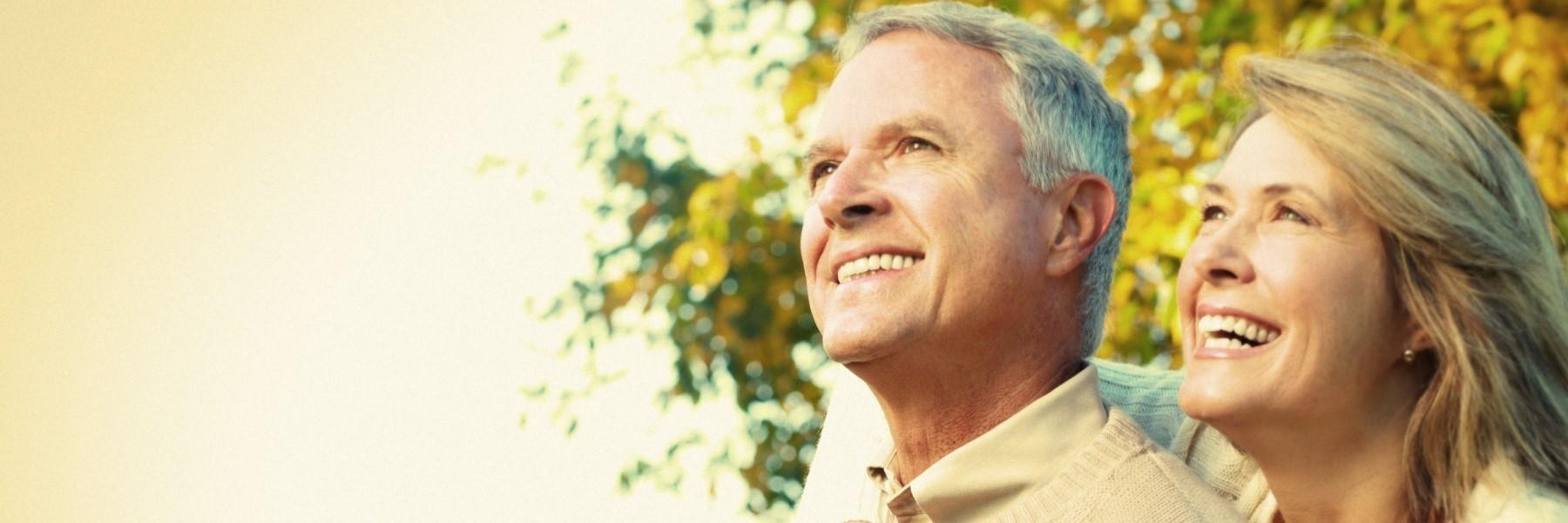 Older man and woman smiling | Dentist Chesterfield MO
